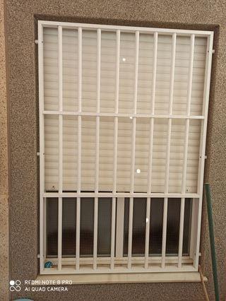 reja de aluminio blanca,para ventana