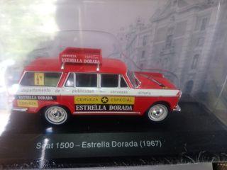 coche maqueta seat 1500 Estrella Dorada 1967