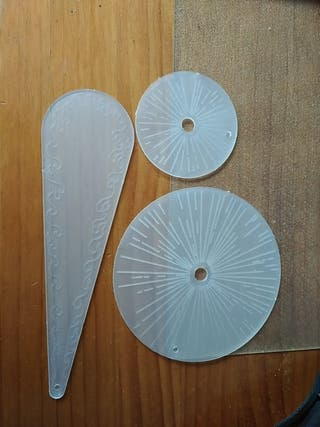 Plantillas transparentes Warhammer