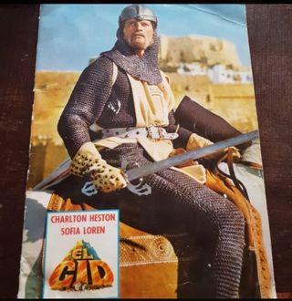 Album película El Cid. 1962 Charlton Heston