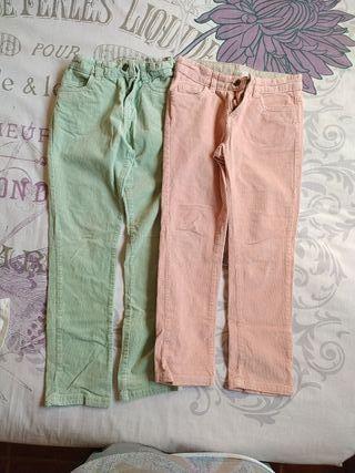 2 pantalones pana niña 7-8 años