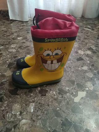 Botas de agua Bob Esponja