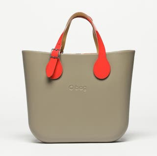 Bolso original O Bag Mini Gris Piedra y Blanco
