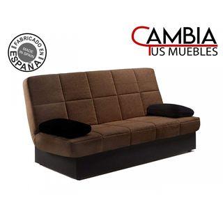 Sofá cama clic clac con arcon modelo Arc marron