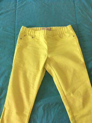 Pantalón talla 36 amarillo fluor