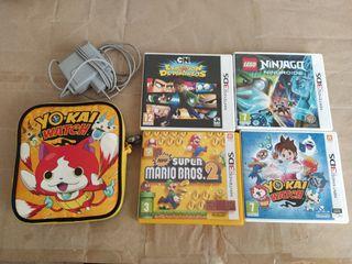 Nintendo 2ds más 4 juegos 3ds