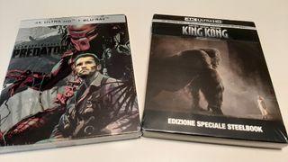 2 películas steelbook 4K UHD blu-ray