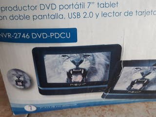"Nevir Reproductor DVD Portátil 7"" tablet"