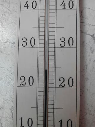 Antiguo termómetro de mercurio