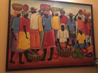 Cuadro Enmarcado Grande Haiti