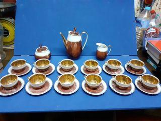 Juego de café en porcelana fina marca Laype