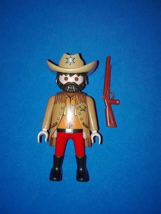 playmobil sheriff pistolero vaquero oeste sudista