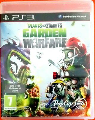 juego PS3 plantas contra zombis
