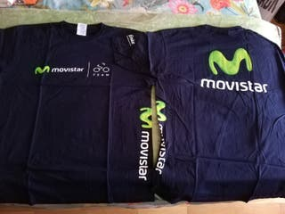 Camisetas paseo Movistar Team