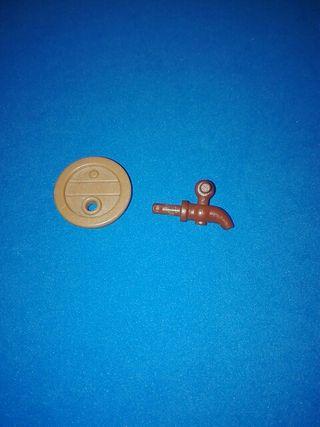 playmobil tapa con grifo de barril