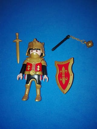 playmobil caballero medieval flor de lis castillo