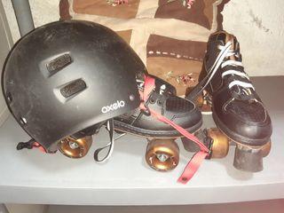 patines con cascos