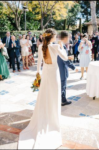 Vestido novia atelier + velo