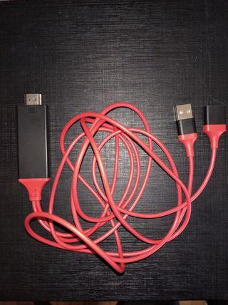 Cable móvil a TV