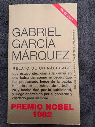 """Libro """"Relato de un náufrago"""" Garcia Márquez"""