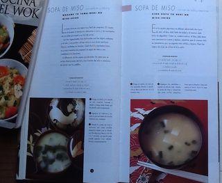 2 LIBROS DE COCINA JAPONESA Y WOK