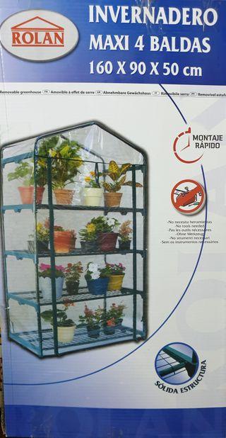 Invernadero maxi 4 baldas