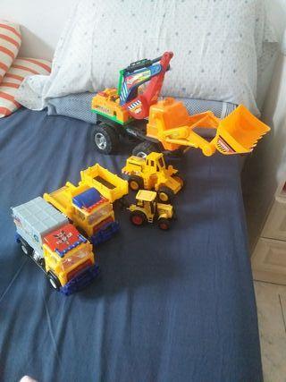 lote de camiones