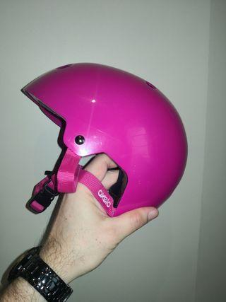 Casco niña rosa Decathlon