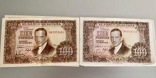 20 billetes 100 pesetas Romero de Torres