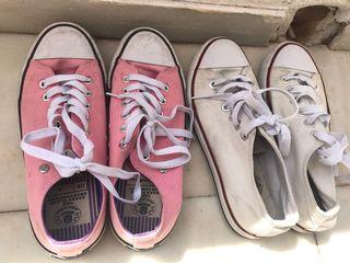 Sneakers rosa y blanca Zapatos