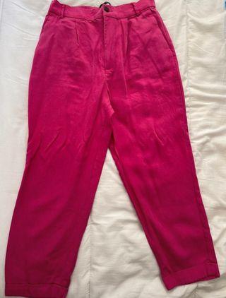 Pantalones rosa de Zara