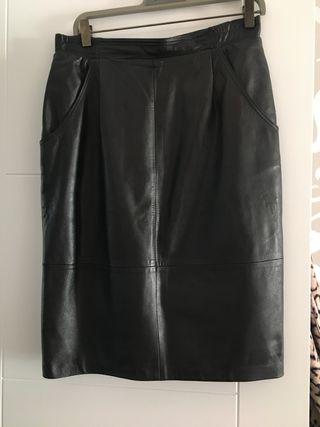 Falda piel natural talla 42