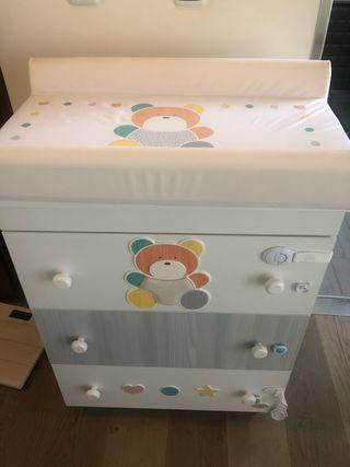 Mueble cambiador bañera bebe