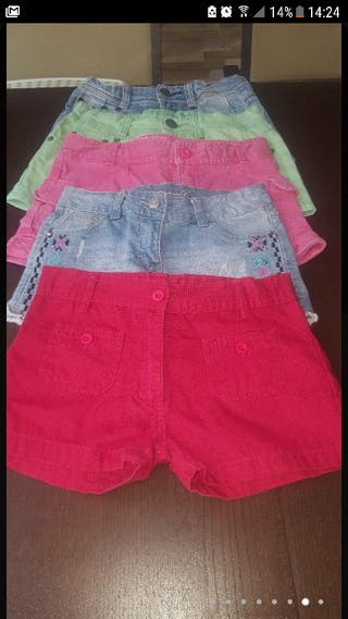 Pantalones cortos niña 6-8