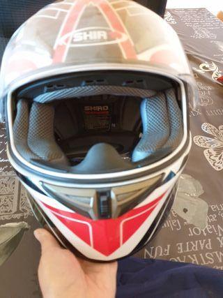 Casco de Moto y Guantes