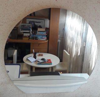 Espejo pared con balda