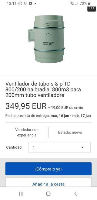Ventilador de tubo