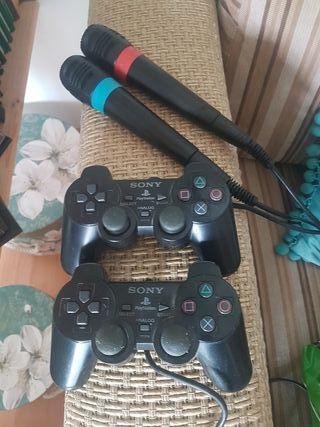 mandos y micrófonos PlayStation 2