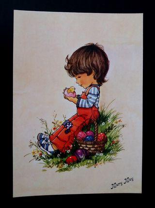 Antigua postal Mary May años 80