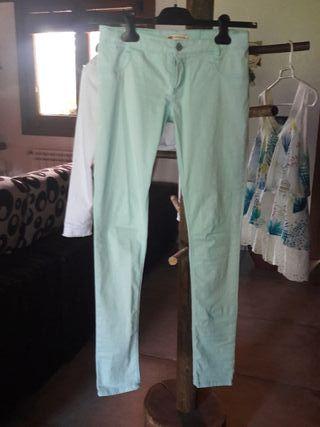 pantalones vaqueros elasticos niña.