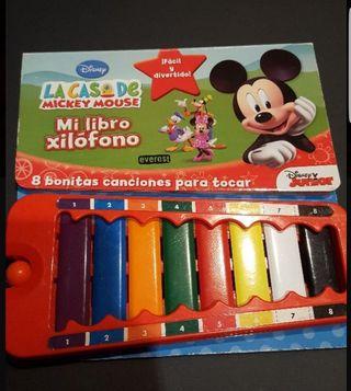 libro mickey + xilofono