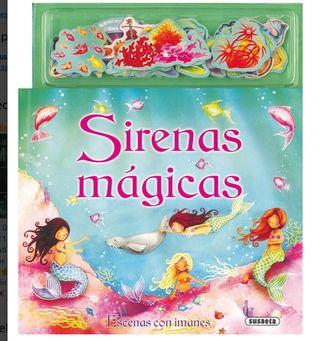Libro sirenas mágicas escenas con imanes