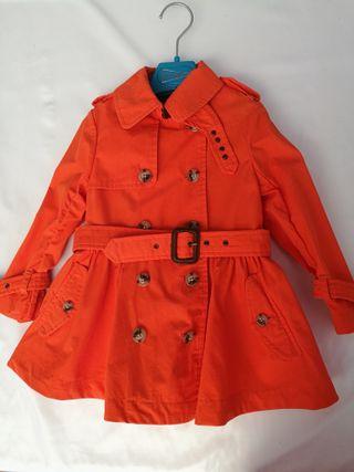 Abrigo gabardina Ralph Lauren niña, talla 2