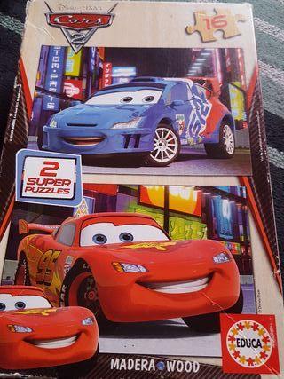puzzle cars piezas de madera