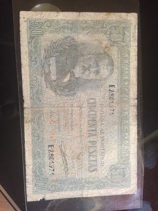 50 pesetas 1940