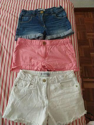 pantalones cortos niña talla 9-10