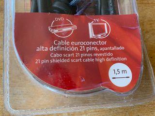 Cable Euroconector alta definición 1,5m PRECINTADO