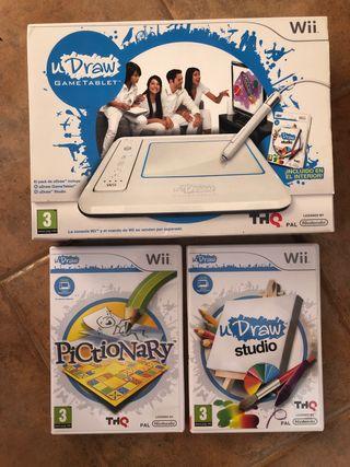 uDraw gametablet para Wii, 2 juegos wii