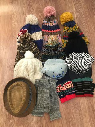 Gorro, sombrero, guantes