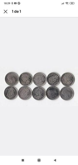Lote de 10 monedas 1975